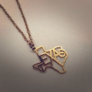 Kris Nations Gold Plated Texas Necklace